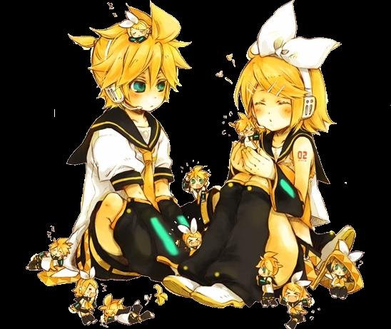 Chibi rin and len