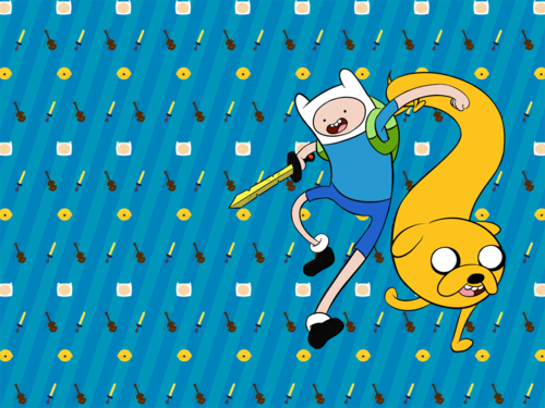 Adventure Time hình nền titled finn and jake