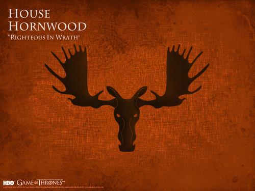 Game of Thrones karatasi la kupamba ukuta possibly containing a sign entitled House Hornwood