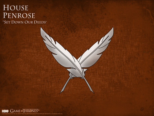 Game of Thrones karatasi la kupamba ukuta titled House Penrose