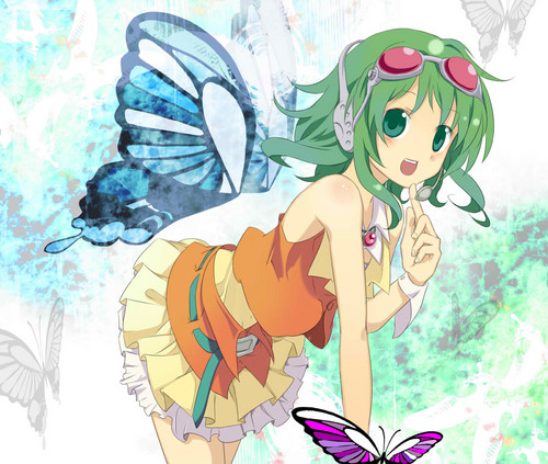 Gumi (Vocaloids) 壁纸 possibly with 日本动漫 called gumi megpoid vocaloid