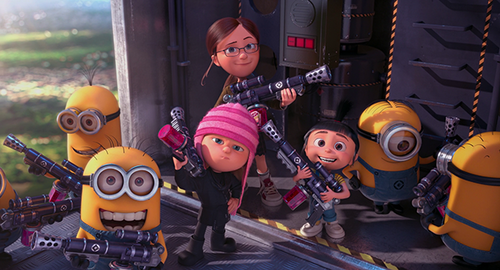 despicable me 2 club wallpaper called here come the girls