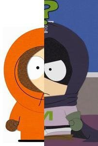 South Park wolpeyper containing a venn diagram titled kenny is mysterion