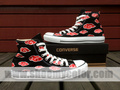 naruto red clouds converse hand painted shoes