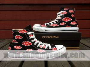 나루토 red clouds 컨버스 hand painted shoes
