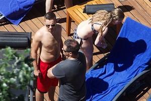 Liam at the pool O_O