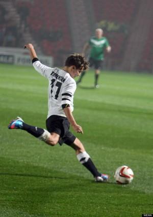 Louis on the Футбол field!