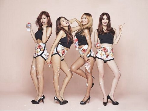 SISTAR (씨스타) wallpaper possibly with a bikini and a pakaian renang, baju renang entitled Sistar Touch My Body Teaser