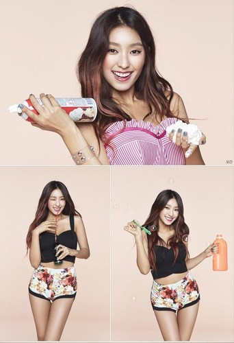 SISTAR (씨스타) wallpaper containing a bikini, a swimsuit, and attractiveness called Sistar Bora Touch My Body Teaser