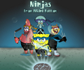 ninjas from bikini bottom - spongebob-squarepants wallpaper