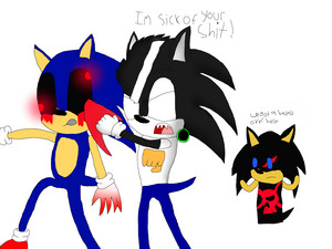 pewds punches sonic.exe