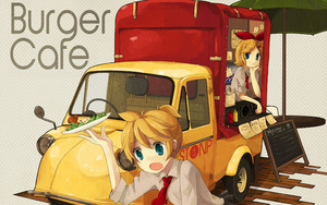 rin and len burger cafe