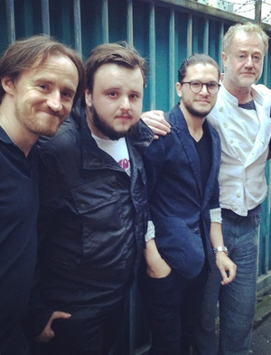 Kit Harington, John Bradley, Ben Crompton and Owen Teale
