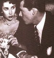 Liz Taylor and  her first husband (Conrad Hilton jr)    - elizabeth-taylor photo