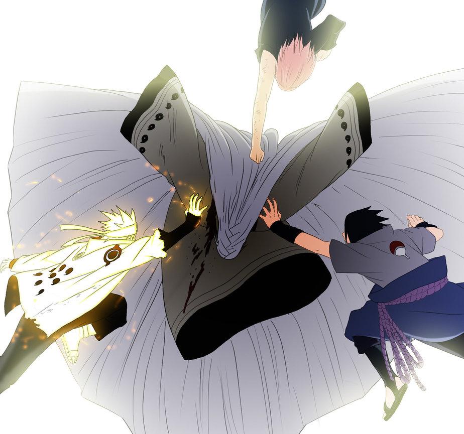 Naruto Shippuden Imagens Naruto And Sasuke Foca Selo Kaguya Hd