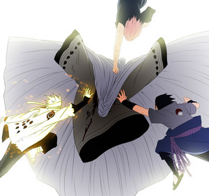 *NARUTO AND SASUKE zeehond, seal KAGUYA*