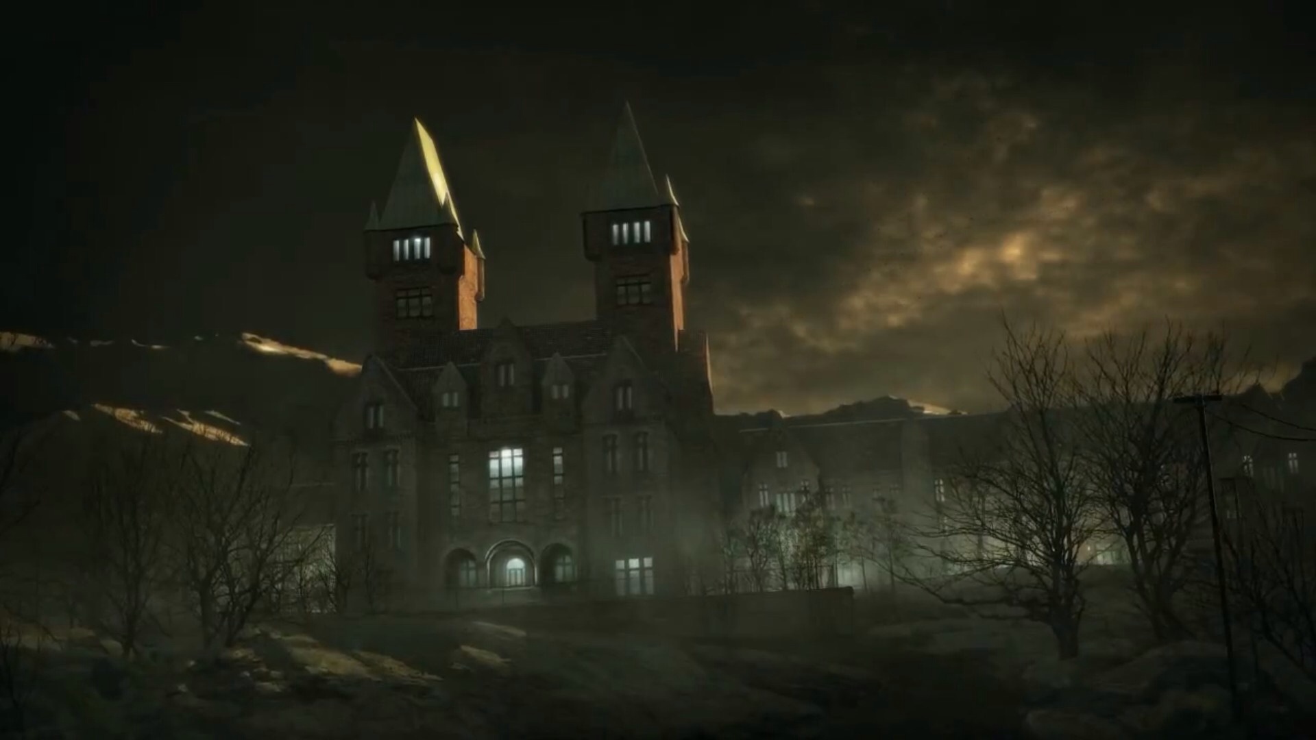 Outlast Обои probably containing a palace, a chateau, and a manor titled Mount Massive