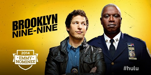 Brooklyn Nine-Nine 바탕화면 with a business suit titled 2014 Emmy Nominee