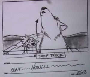 AO Storyboard Art (Garth's Howling)