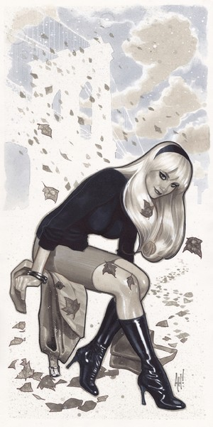 Adam Hughes Gwen Stacy convention sketch