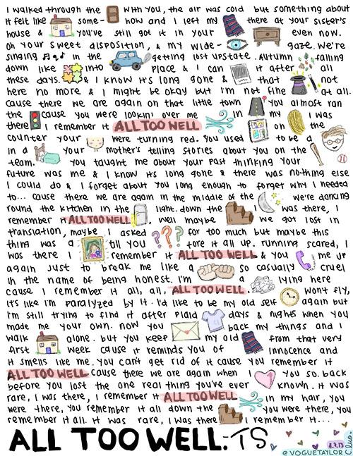 All Too Well - Taylor Swift Fan Art (37442351) - Fanpop