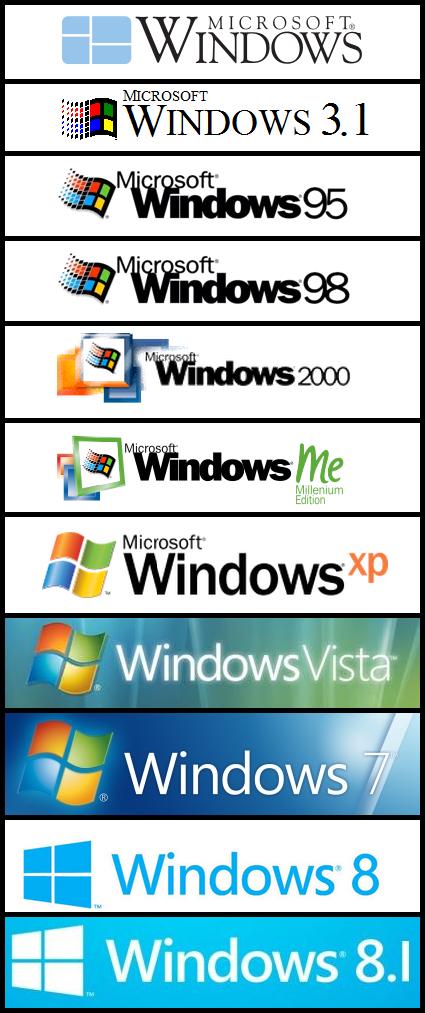 All Windows Logos