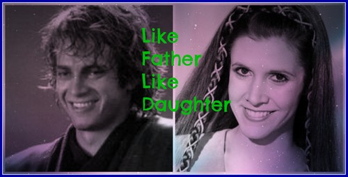 guerra nas estrelas wallpaper possibly with animê and a portrait entitled Anakin and Leia