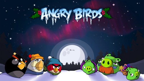 angry birds wallpaper containing animê titled Angry Birds Seasons