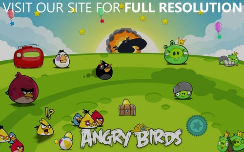 angry birds wallpaper with animê titled Angry Birds Seasons