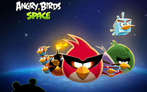 angry birds wallpaper entitled Angry Birds o espaço