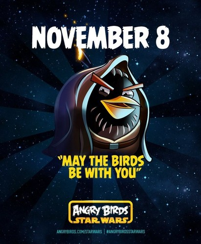 Angry Birds wallpaper containing anime entitled Angry Birds Star Wars Poster