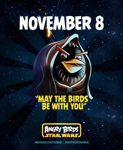 Angry Birds karatasi la kupamba ukuta containing anime entitled Angry Birds nyota Wars Poster