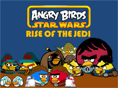 Angry Birds karatasi la kupamba ukuta containing anime called Angry Birds nyota Wars