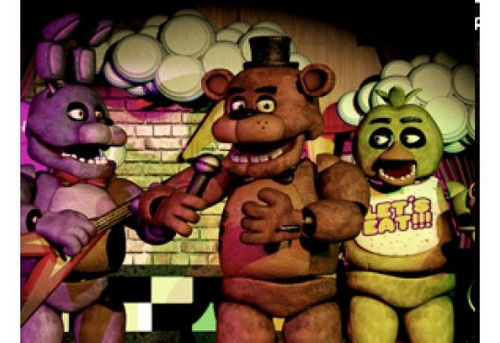 Five Nights at Freddy's پیپر وال with عملی حکمت entitled Animatronics on the stage