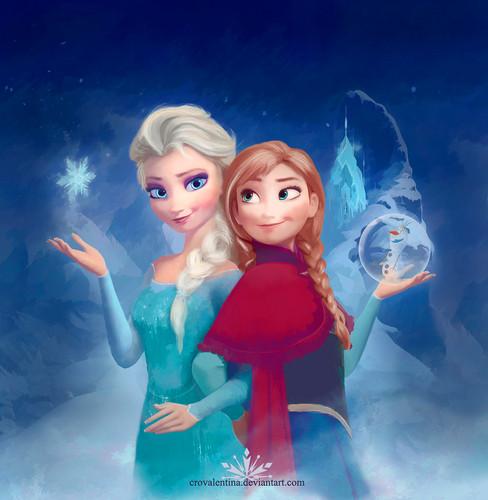 Princess Anna 바탕화면 entitled Anna and Elsa