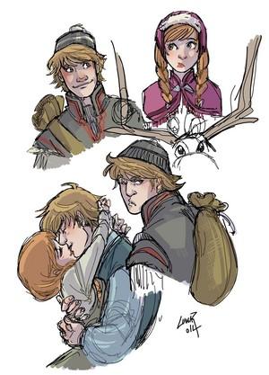 Anna and Kristoff ✧