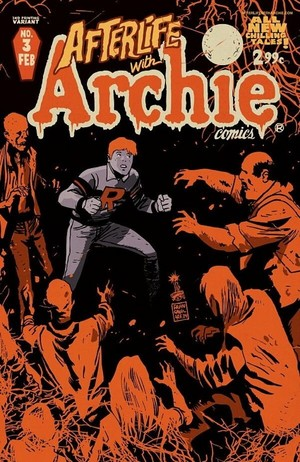 Archie surrounded bởi zombies