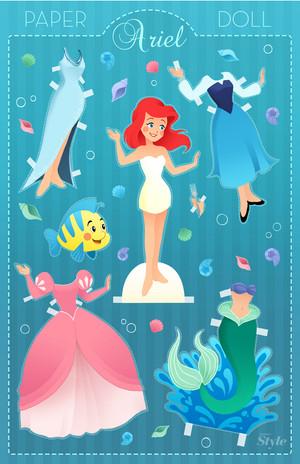 Ariel Paper Doll