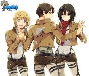 Armin/Eren/Mikasa