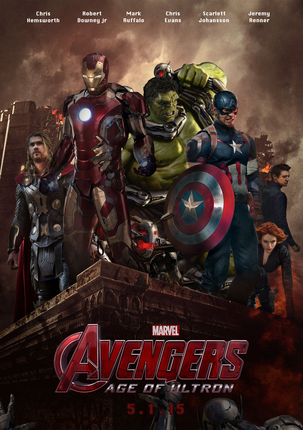 Avengers age of ultron poster the avengers age of ultron 37434941 1024