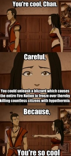 Avatar The Last Airbender karatasi la kupamba ukuta titled Azula bad pick up line meme