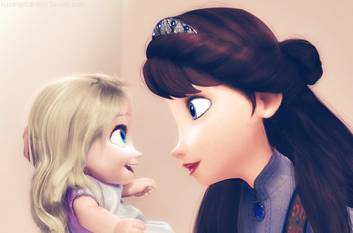 엘사와 안나 바탕화면 called Baby Elsa and her Mother