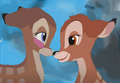 Bambi and Faline touch noses - bambi-and-faline fan art