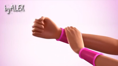 Barbie Movies wallpaper possibly containing a leotard, tights, and support hose titled Barbie in princess power teaser trailer screenshots