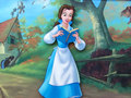 Beauty and the Beast achtergrond - Belle