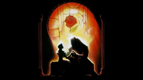 Beauty and the Beast wallpaper probably containing a fountain and a fire entitled Beauty and the Beast Wallpaper - Original Poster