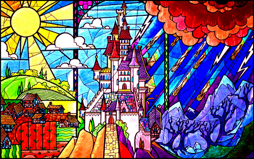 Classic Disney wallpaper possibly with anime entitled Beauty and the Beast Wallpaper