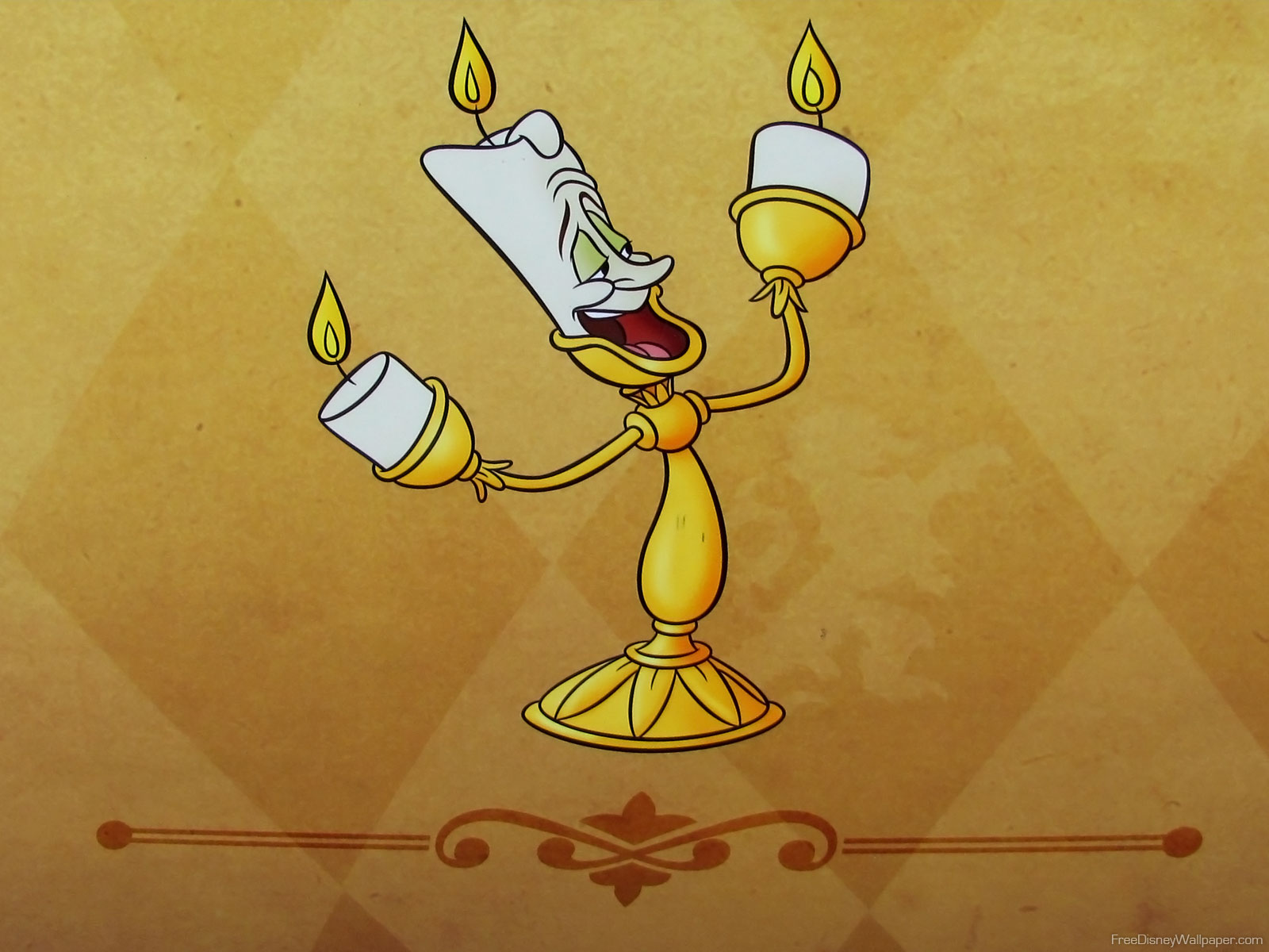 Beauty and the Beast wallpaper - Lumiere