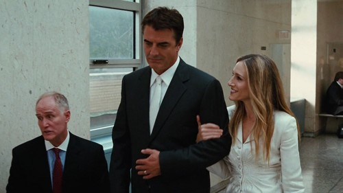 ویژن ٹیلی & Movie Couples پیپر وال with a business suit, a suit, and a two piece titled Big and Carrie