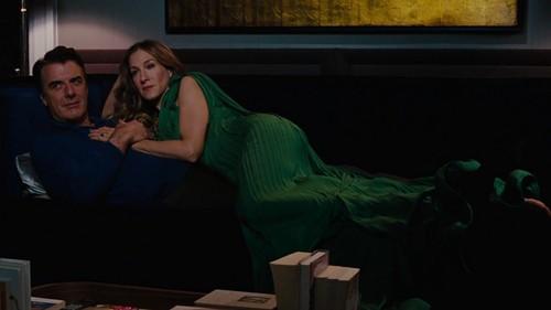 ویژن ٹیلی & Movie Couples پیپر وال containing a family room, a drawing room, and a living room entitled Big and Carrie